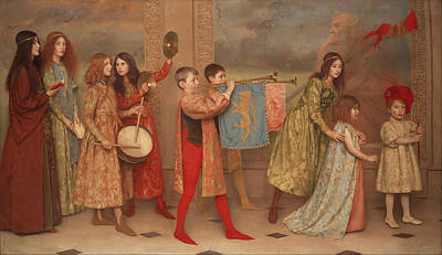 Trumpet Painting - A Pageant Of Childhood by Mountain Dreams