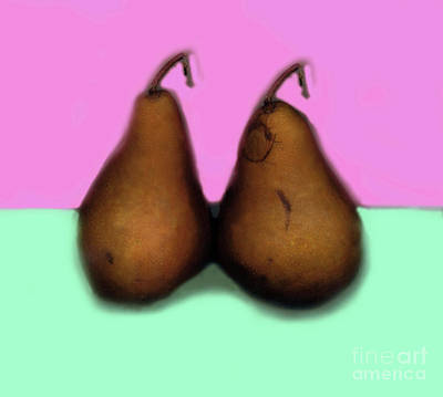 Pear Digital Art - A Pair Of Pears by Madeline Ellis