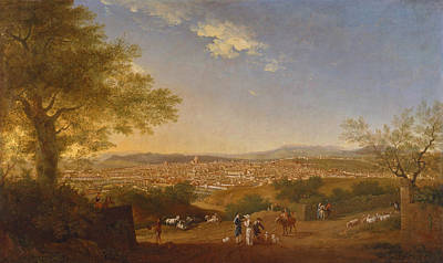 A Panoramic View Of Florence From Bellosguardo Painting - A Panoramic View Of Florence From Bellosguardo by Thomas Patch