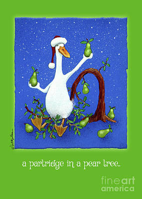 Painting - A Partridge In A Pear Tree... by Will Bullas