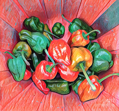 Photograph - A Passle Of Peppers by Miriam Danar