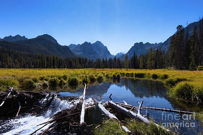 Photograph - A Peek Of The Sawtooths Idaho Journey Landscape Photography By Kaylyn Franks  by Kaylyn Franks