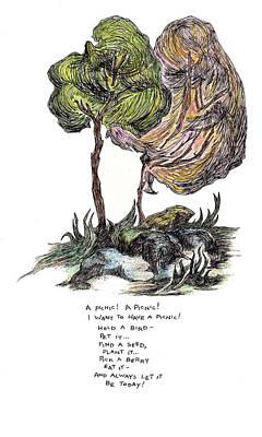 A Picnic Print by Lily Hymen