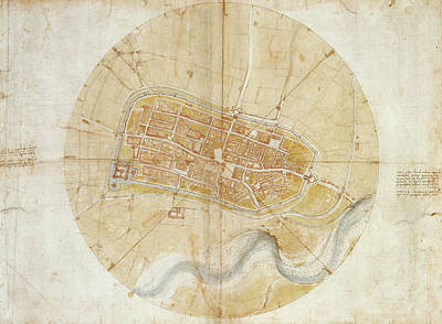 Amboise Painting - A Plan Of Imola by MotionAge Designs