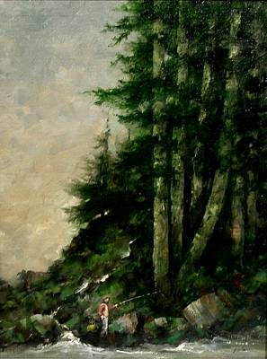 Wall Art - Painting - A Quiet Place by Jim Gola