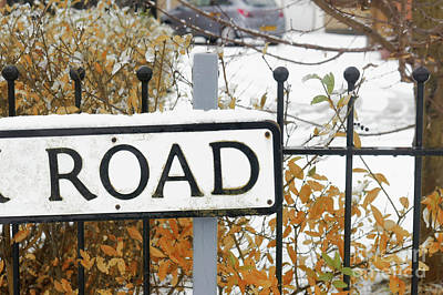 Photograph - A Road Sign  by Tom Gowanlock
