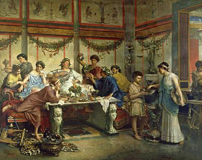 A Roman Feast Art Print