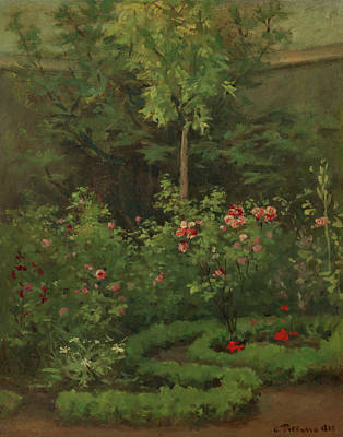 Painting - A Rose Garden by Camille Pissarro
