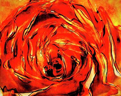 Digital Art - A Rose Is A Rose by Terry Fleckney