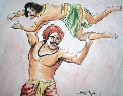 Painting - A Scene From Mahabharata by Tanmay Singh