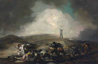 Hunt Painting - A Scene From The Spanish War Of Independence by Francisco Goya