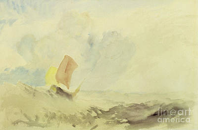 A Sea Piece  A Rough Sea With A Fishing Boat Art Print by Joseph Mallord William Turner