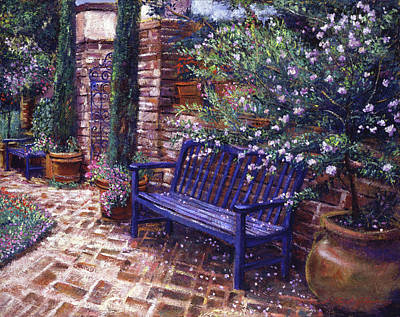 Painting -  A Shady Resting Place by David Lloyd Glover