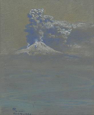 April Shower Painting - A Shower Of Ashes Upon Ottaviano by Charles Caryl