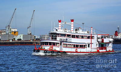 Photograph - A Sightseeing Boat Passes Through Kaohsiung Port by Yali Shi
