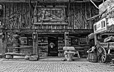Log Cabin Photograph - A Simpler Time Bw by Steve Harrington