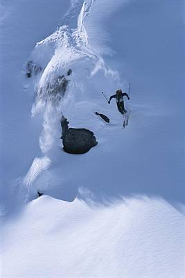 Natural Forces Photograph - A Skier In The Selkirk Range, British by Jimmy Chin