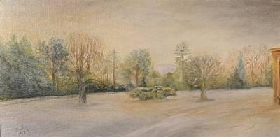 Snow Scene Landscape Painting - A Snowy Morn At Dalhebity by Douglas Ann Slusher
