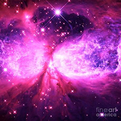 Nebula Photograph - A Star Is Born Pink Purple by Johari Smith