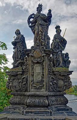 Photograph - A Statue On The Charles Bridge In Prague by Richard Rosenshein