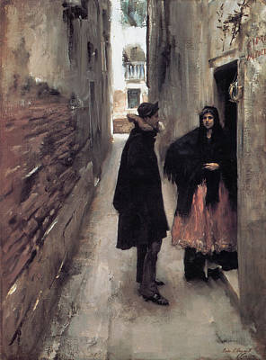 Alleyway Painting - A Street In Venice by John Singer Sargent