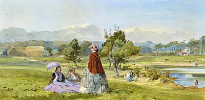 John Absolon Drawing - A Summer Idle by John Absolon