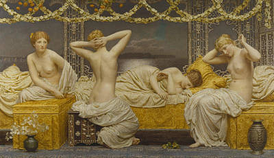 Moore Painting - A Summer Night by Albert Joseph Moore