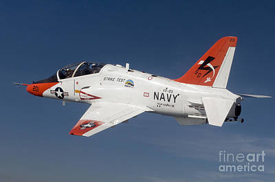 A T-45c Goshawk Training Aircraft Art Print by Stocktrek Images