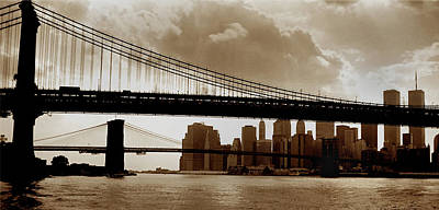 Wtc Photograph - A Tale Of Two Bridges by Joann Vitali