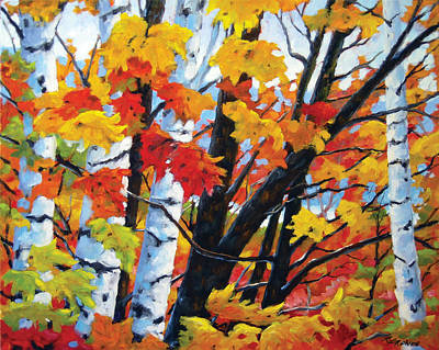 A Touch Of Canada Art Print by Richard T Pranke