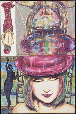 Lauper Mixed Media - A True Color by Joseph Lawrence Vasile