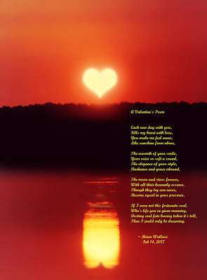 Prose Digital Art - A Valentines Poem by Brian Wallace