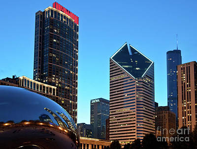 A View From Millenium Park At Dusk Art Print