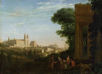 Urban Scenery Painting - A View In Rome by Claude Lorrain
