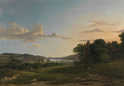 A View Of Cessford And The Village Of Caverton, Roxboroughshire In The Distance  Art Print by Patrick Nasmyth