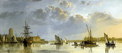 Seventeenth Century Painting - A View Of Dordrecht by Celestial Images
