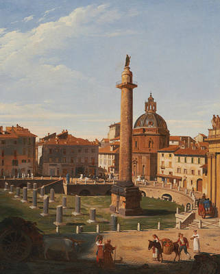 Italian Landscape Painting - A View Of Trajan's Forum, Rome by Charles Lock Eastlake