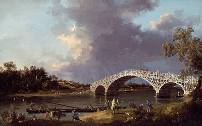 Painting - A View Of Walton Bridge by Canaletto