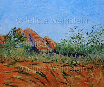 Painting - A Walk In The Field by Felicia Weinstein