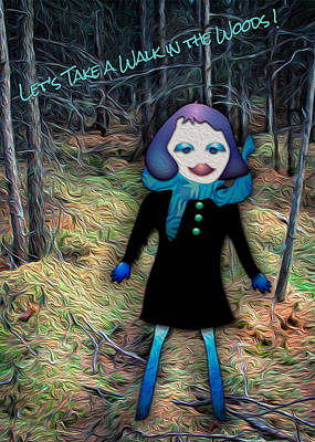 Digital Art - Let's Take A Walk In The Woods by Bonnie Follett
