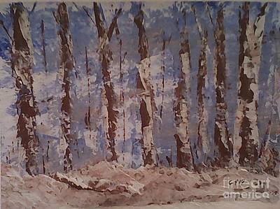 Snow Covered Ground Painting - A Walk In The Woods by Ginny Youngblood