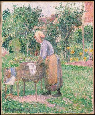 A Washerwoman At Ragny Original by Camille Pissarro