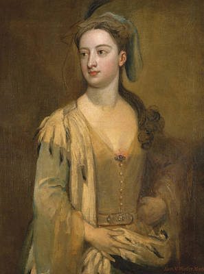 Kneller Painting - A Woman Called Lady Mary Wortley Montagu by Godfrey Kneller