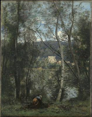 A Woman Gathering Faggots At Ville-d'avray Original by Camille Corot