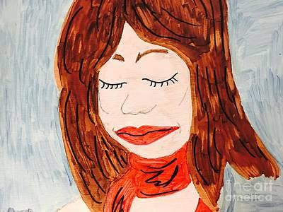 Drawing - A Young Woman  by Charita Padilla