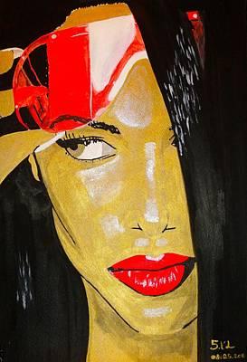 Rnb Painting - Aaliyah by Estelle BRETON-MAYA