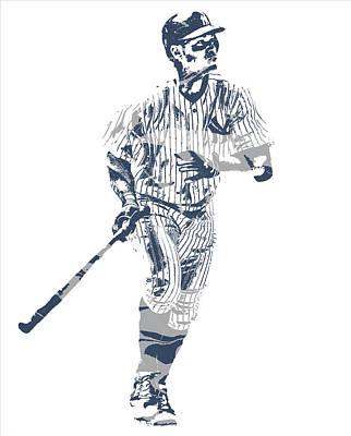 New York Yankees Mixed Media - Aaron Judge New York Yankees Pixel Art 11 by Joe Hamilton
