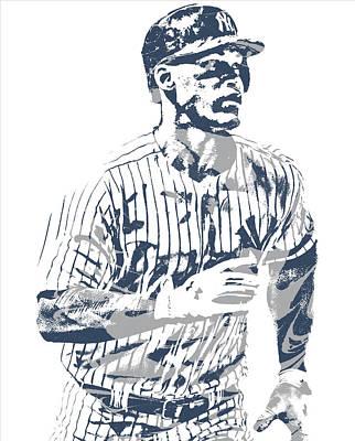 New York Yankees Mixed Media - Aaron Judge New York Yankees Pixel Art 12 by Joe Hamilton