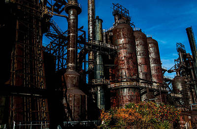 School Tote Bags Royalty Free Images - Abandoned Bethlehem Steel Mill, Bethlehem, PA, 2017 Royalty-Free Image by Wayne Higgs