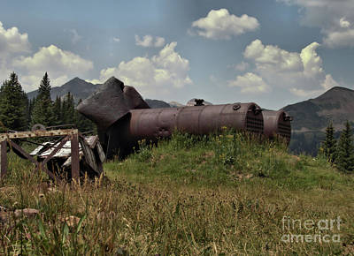 Photograph - Abandoned Boiler by William Schlabach